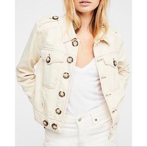 Free People || Eisenhower Slouchy Denim Jacket